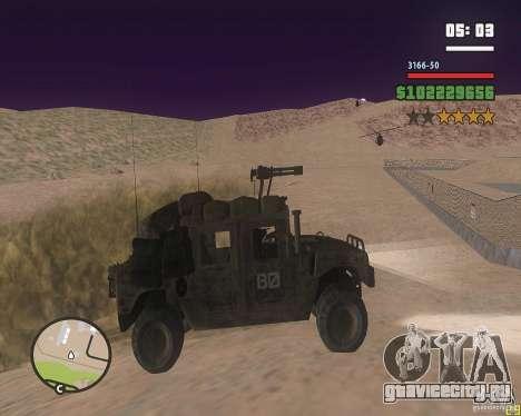 Hummer H1 из COD MW 2 для GTA San Andreas вид сзади слева