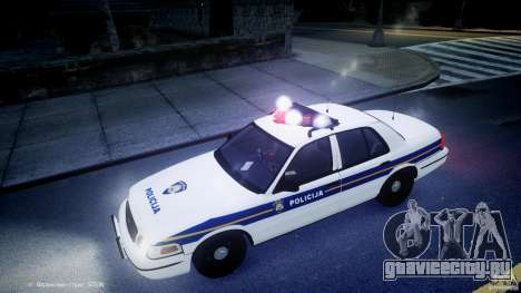 Ford Crown Victoria Croatian Police Unit для GTA 4 салон