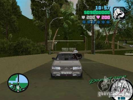 ВАЗ 2112 для GTA Vice City вид сзади слева