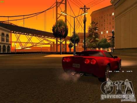 Chevrolet Corvette Z06 для GTA San Andreas вид снизу