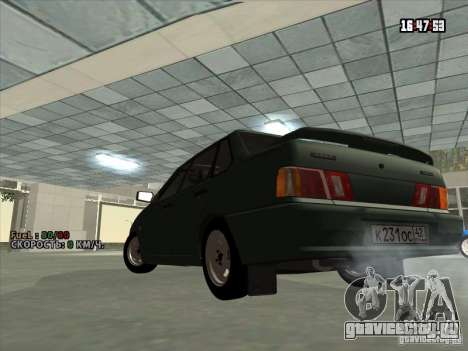 ВАЗ 2115 Сток для GTA San Andreas вид сзади слева