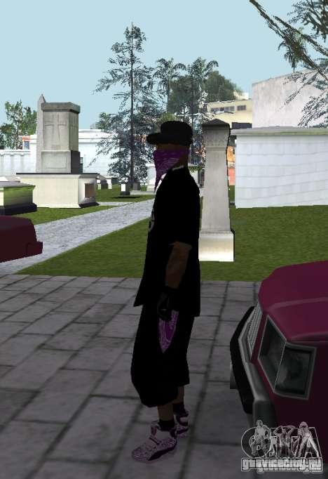 New Ballas Skin для GTA San Andreas третий скриншот