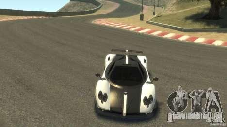Pagani Zonda Cinque 2009 для GTA 4 вид сзади