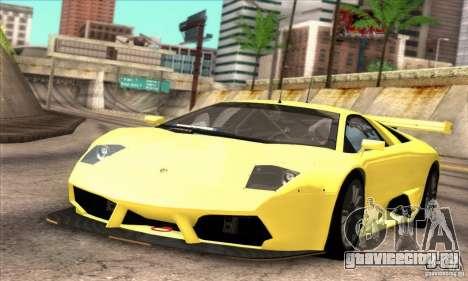 Lamborghini Murcielago R-SV GT1 для GTA San Andreas вид сзади