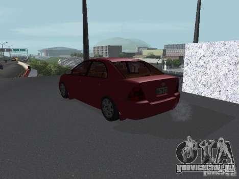 Toyota Corolla Sedan для GTA San Andreas вид сзади слева
