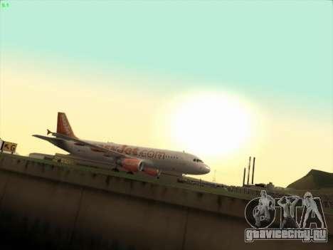Airbus A320-214 EasyJet для GTA San Andreas вид слева