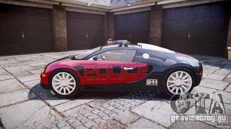 Bugatti Veyron 16.4 Police [EPM/ELS] для GTA 4 вид слева