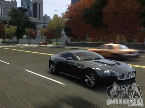 Aston Martin V12 Vantage 2010 V.2.0 для GTA 4 вид изнутри