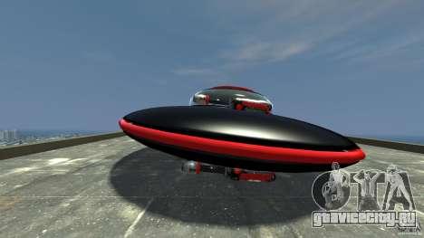 UFO neon ufo red для GTA 4 вид слева