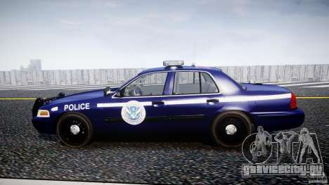 Ford Crown Victoria Homeland Security [ELS] для GTA 4 вид слева
