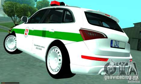 Audi Q5 TDi - Policija для GTA San Andreas вид слева
