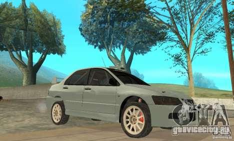 Mitsubishi Lancer Evolution IX для GTA San Andreas вид сбоку