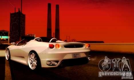 Ferrari F430 Spider для GTA San Andreas вид справа