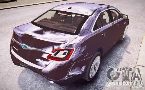 Ford Taurus SHO 2010 для GTA 4 колёса
