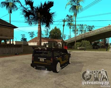 H2 HUMMER DUB LOWRIDE для GTA San Andreas вид сзади слева