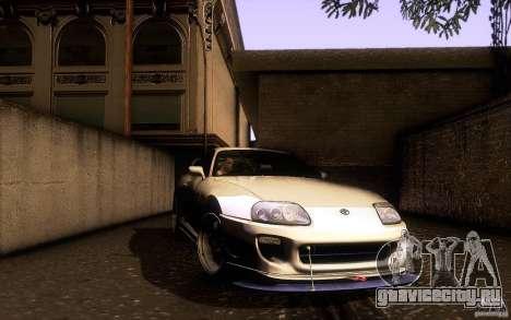 Toyota Supra D1 1998 для GTA San Andreas вид сверху