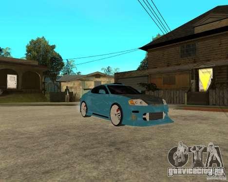 Hyundai Tibuton V6 GT для GTA San Andreas вид сзади