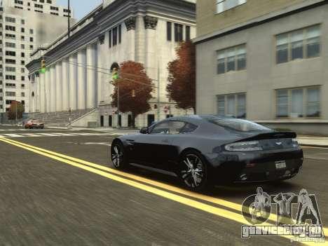 Aston Martin V12 Vantage 2010 V.2.0 для GTA 4 вид сзади