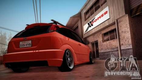 Ford Focus SVT Clean для GTA San Andreas вид сбоку
