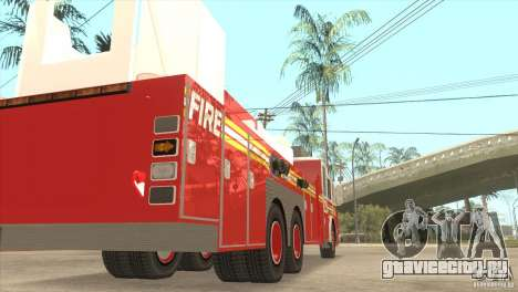 FDNY Seagrave Marauder II Tower Ladder для GTA San Andreas вид справа