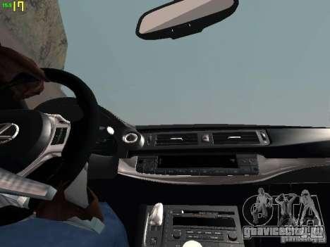 Lexus CT200H Japanese Police для GTA San Andreas вид сверху