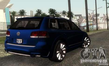 VolksWagen Touareg R50 JE Design Tuning для GTA San Andreas вид сзади слева