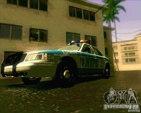 Ford Crown Victoria 2003 NYPD police V2.0 для GTA San Andreas вид справа