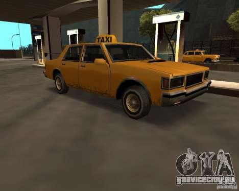 LV Taxi для GTA San Andreas вид сзади слева