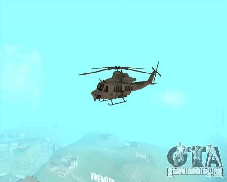 UH-1 Iroquois для GTA San Andreas вид сзади
