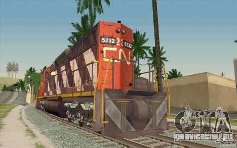 CN SD40 ZEBRA STRIPES для GTA San Andreas вид сзади слева