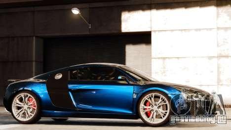 Audi R8 LeMans для GTA 4 вид изнутри