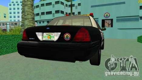 Ford Crown Victoria Police 2003 для GTA Vice City вид слева
