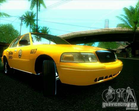 Ford Crown Victoria 2003 TAXI для GTA San Andreas вид слева