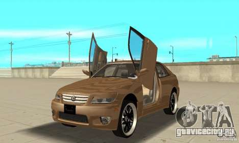 Lexus IS300 2005 для GTA San Andreas вид изнутри