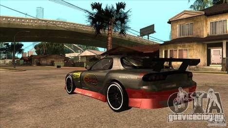 Mazda RX7 Tuned для GTA San Andreas вид сзади слева