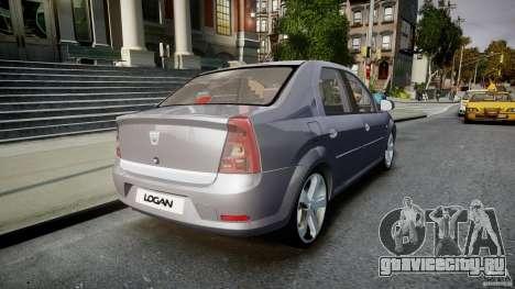 Renault Logan для GTA 4 вид сбоку
