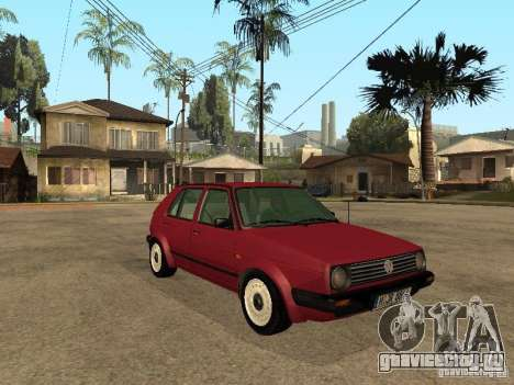 Volkswagen Golf MKII 5dr для GTA San Andreas вид справа