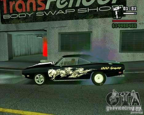 Dodge Charger R/T 69 для GTA San Andreas вид слева