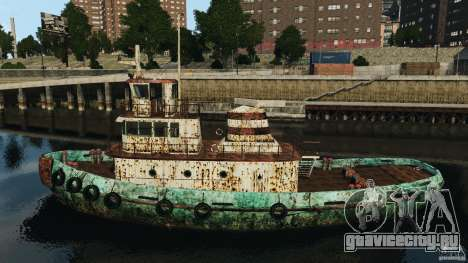 Realistic Rusty Tugboat для GTA 4 вид слева