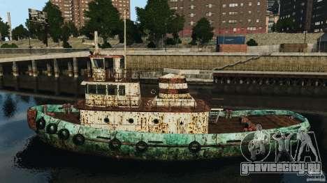 Realistic Rusty Tugboat для GTA 4 вид слева