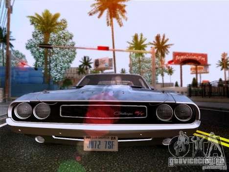 Dodge Challenger HEMI для GTA San Andreas вид изнутри