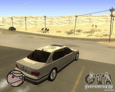 BMW 750il Limuzin для GTA San Andreas вид сзади слева