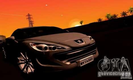 Peugeot Rcz 2011 для GTA San Andreas двигатель