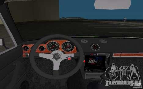ВАЗ 2106 Tuning v3.0 для GTA Vice City вид сверху