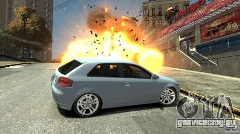 Audi S3 2009 для GTA 4 вид сбоку