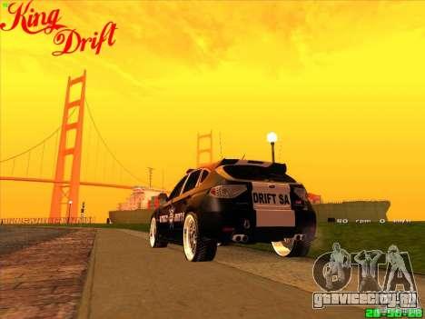 Subaru Impreza WRX Police для GTA San Andreas вид слева