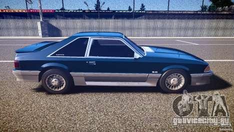 Ford Mustang GT 1993 Rims 1 для GTA 4 вид изнутри