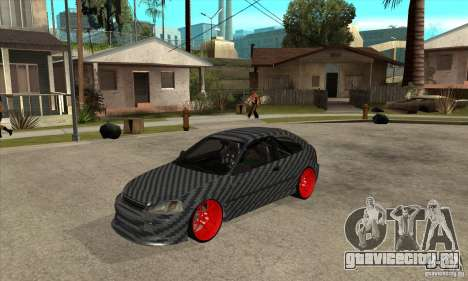 Honda Civic Carbon Latvian Skin для GTA San Andreas вид слева