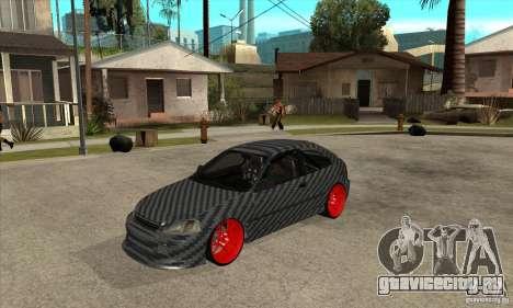 Honda Civic Carbon Latvian Skin для GTA San Andreas вид слева