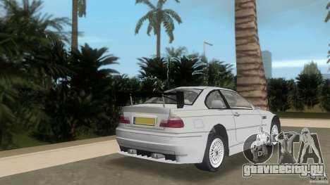 BMW M3 для GTA Vice City вид сзади слева